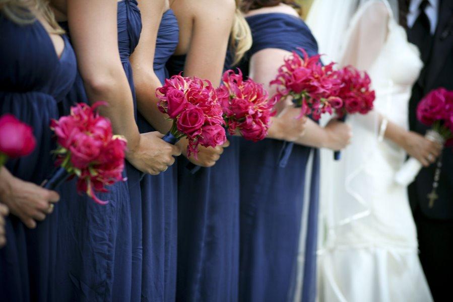 Bouquet Bridal: Dark Pink Wedding Roses