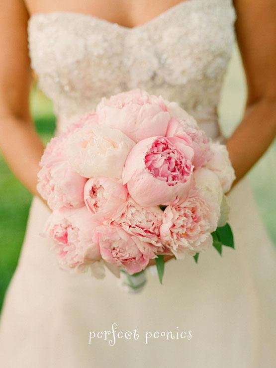 Bouquet Bridal: Pale Pink Peonies Bouquet