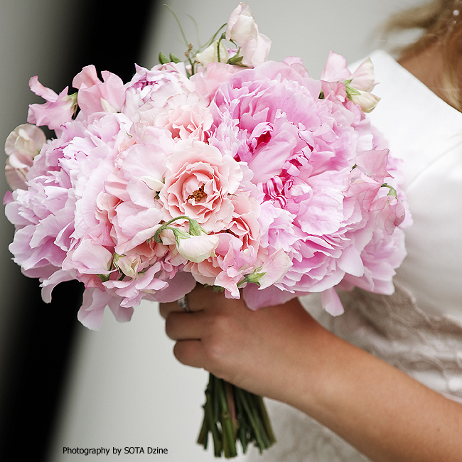 Bouquet Bridal Pale Pink Peonies Bouquet