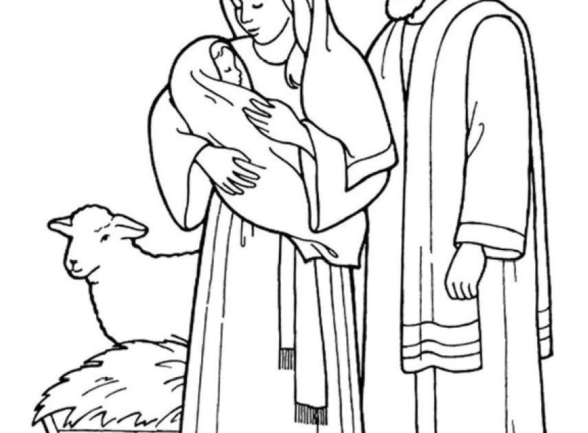 La Sagrada Familia Para Colorear Dibujos Para Colorear