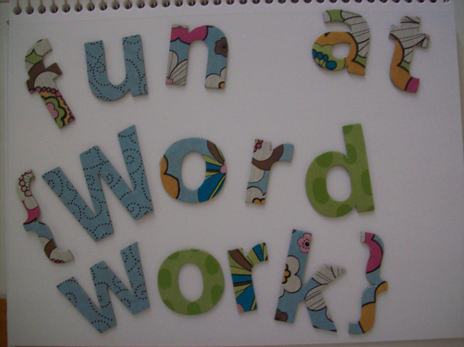 First Grader Last Wondrous Word Work