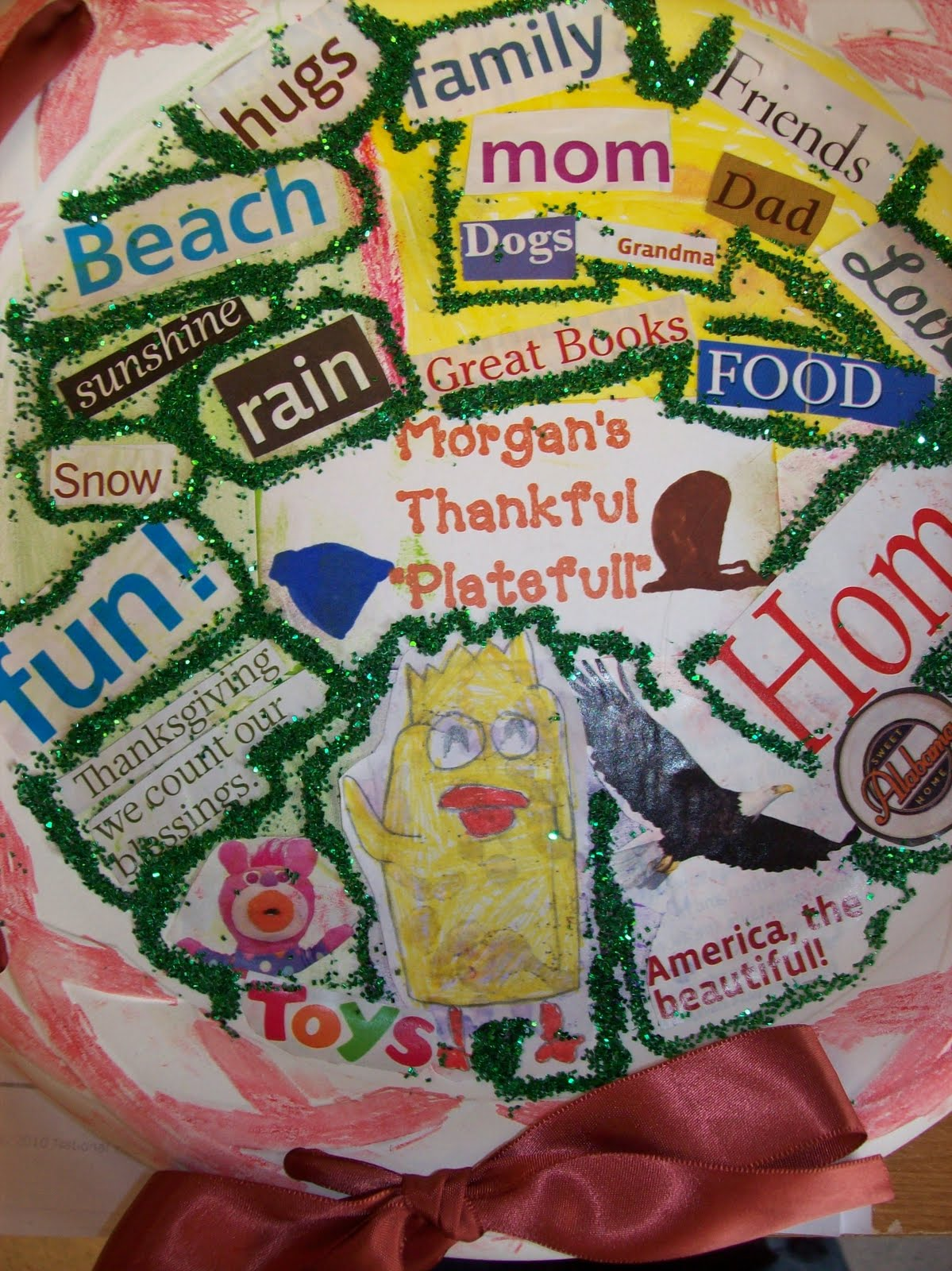 First Grader Last A Thankful Plate Full