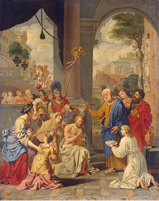 "The Baptism of a Centurion"" by Michel Corneille the Elder - 17th Century"