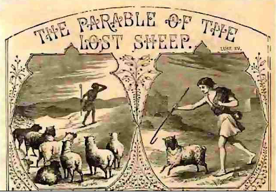 """The Parable of the Lost Sheep"" Illustrator of Abbott Illustrated New Testament, 1878"