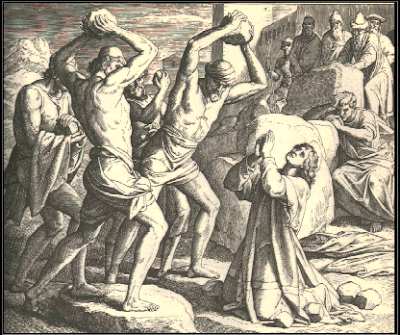 """The stoning of Stephen"" by Julius Schnorr von Carolsfeld, 1851-60"
