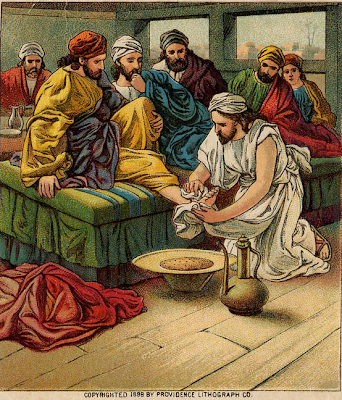 Jesus washes His disciples' feet - Artist unknown