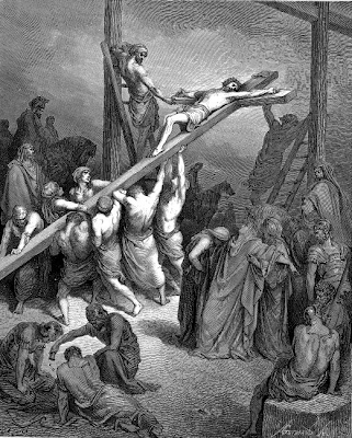 """The Erection of the Cross"" by Gustave Dore, 1865"