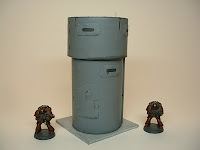 warhammer 40k terrain weapon gun tower 25-30 mm science fiction miniatures