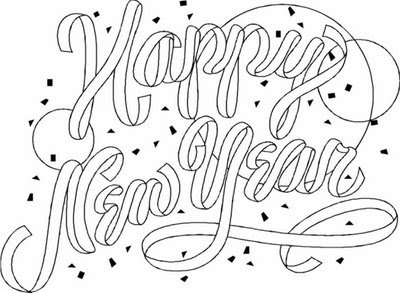 Coloring Pages: Happy New Year 2010 Coloring Pages