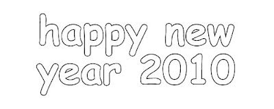 Happy New Year 2010 Coloring Pages