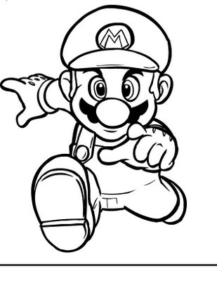 Wonderful Things Daily Mario Coloring Pages Collection 2010