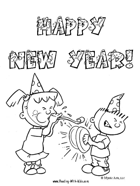 Happy New Year 2011 Coloring Pages