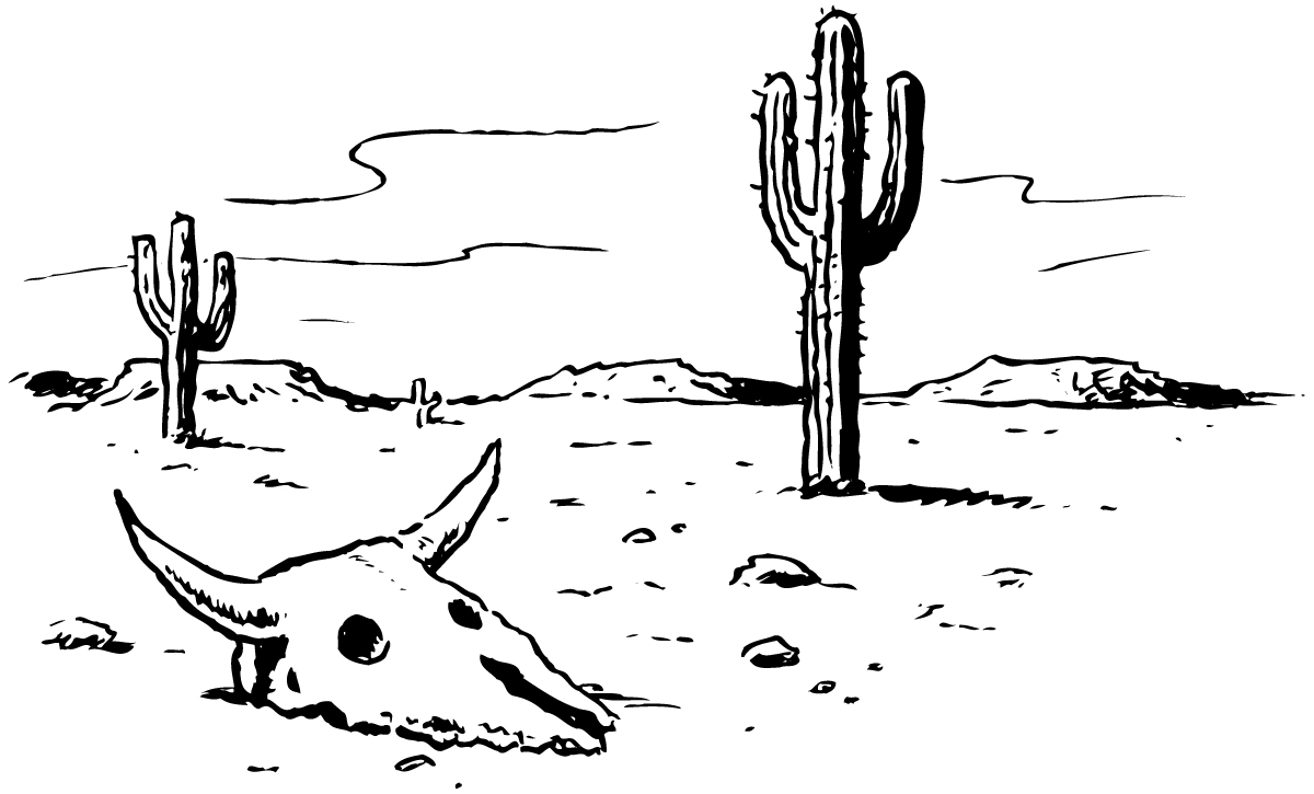 It's just a graphic of Dynamic Desert Scene Drawing