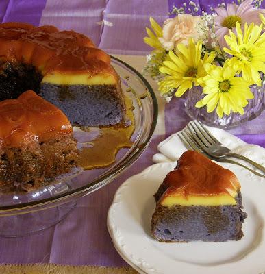 When Adobo Met Feijoada: Ube Chiffon Flan Bundt Cake
