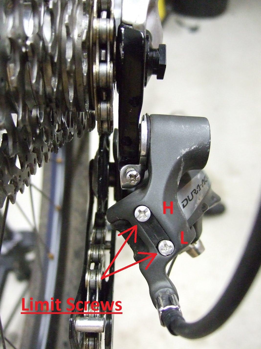 Hasil gambar untuk limit screw rear derailleur