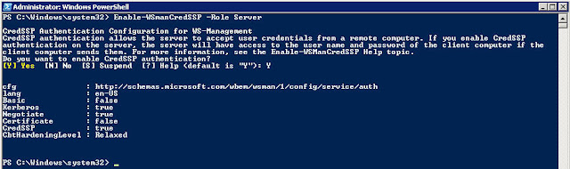 Remotely executing a PowerShell script from client to server