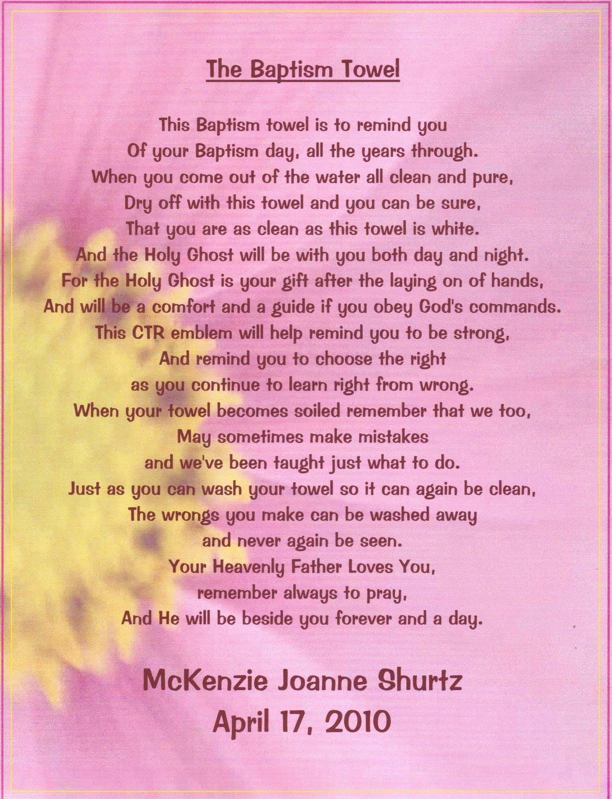 The Baptism Poem Mckenzie