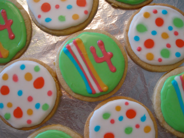 Best ever polka dot and striped sugar cookies.