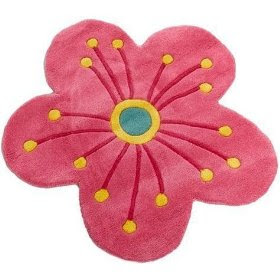 Beauty Accessories Freckles Flower Shaped Wool Rug Pink
