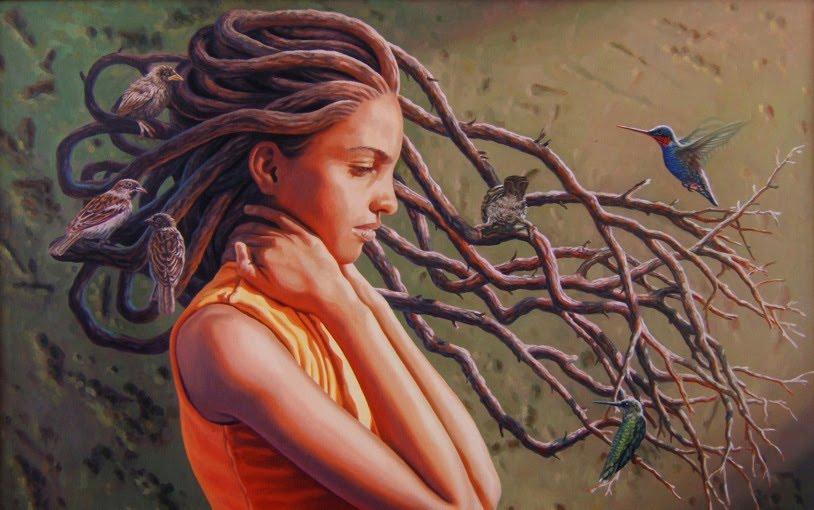 Pintura a l'oli de l'artista cubà Dennis Nuñez, membre de la UNEAC