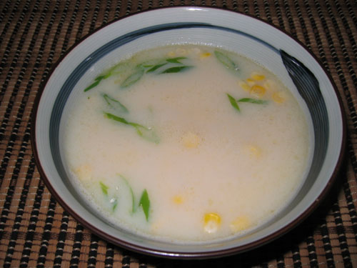 Corn and Milk Miso Soup