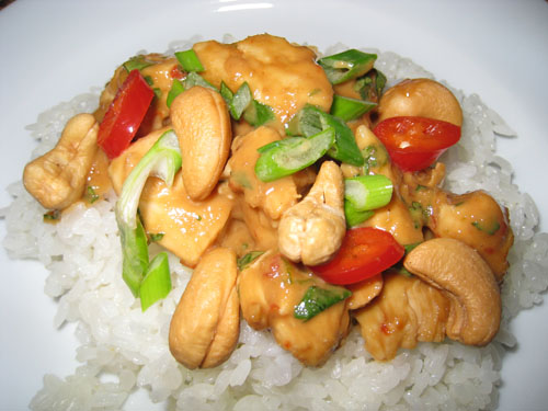 Cashew Butter Chicken on Rice