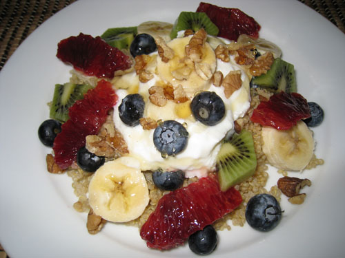 Quinoa Fruit Salad with Yogurt