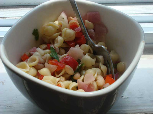 Red, White and Green Pasta Salad