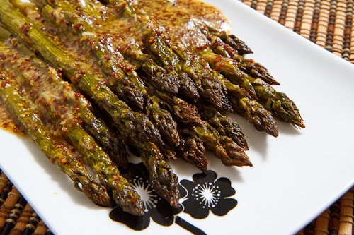 Maple Dijon Roasted Asparagus Recipe