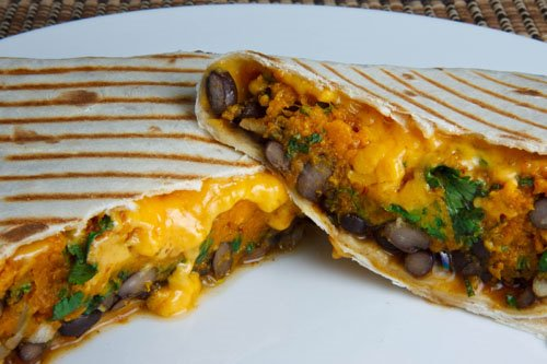 Pumpkin and Black Bean Burrito