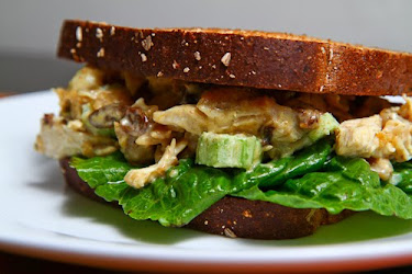 Curried Chicken Salad Sandwich with Apple Chutney