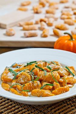 Pumpkin Gnocchi in a Creamy Gorgonzola Sauce