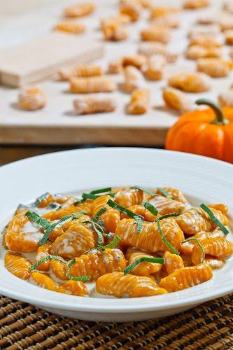 Pumpkin Gnocchi in Gorgonzola Sauce
