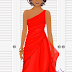 FREE Voile Red Chiffon Dress (SUPERSTAR ONLY)