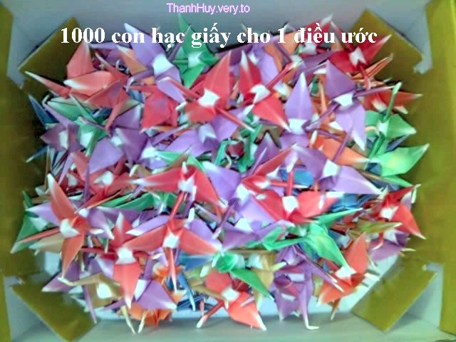 1000 con hạc giấy