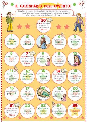 Calendario Dellavvento Da Stampare Per Bambini.Gruppo Sicomoro Calendario Dell Avvento