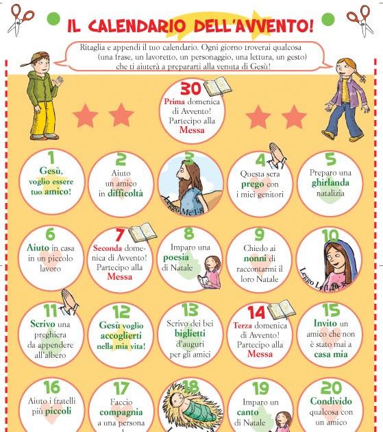 Calendario Di Avvento Per Bambini.Gruppo Sicomoro Calendario Dell Avvento