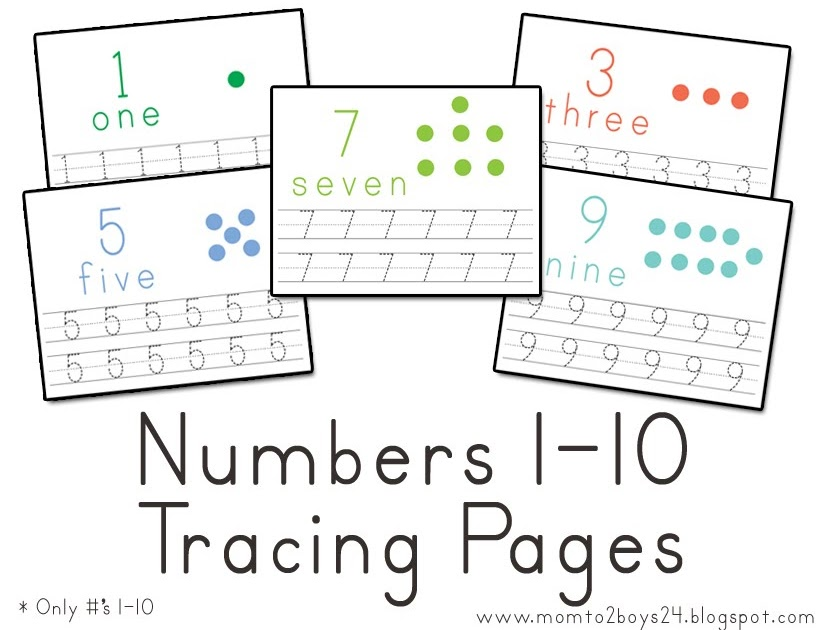 LAWTEEDAH: Number's 1-10 Tracing Papers