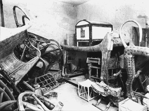 The Interior of Tut s Tomb  1922 King Tuts Tomb Inside