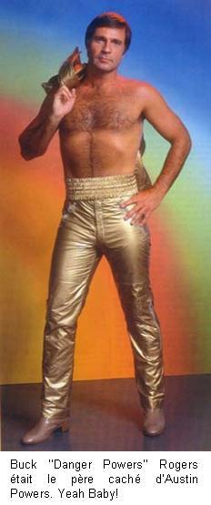 Très disco, la tenue de Buck Rogers au 25ème siècle et dans le grenier de LACN