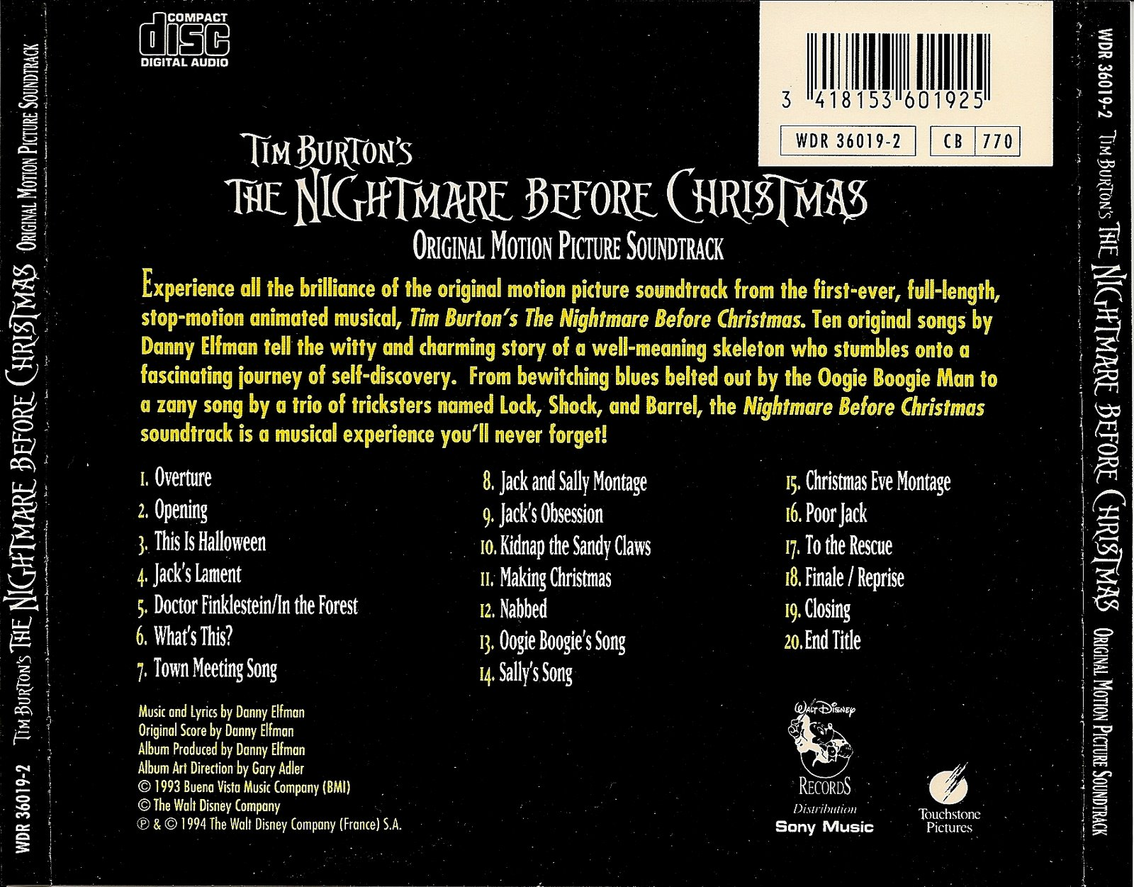 LE BLOG DE CHIEF DUNDEE: THE NIGHTMARE BEFORE CHRISTMAS - Danny Elfman