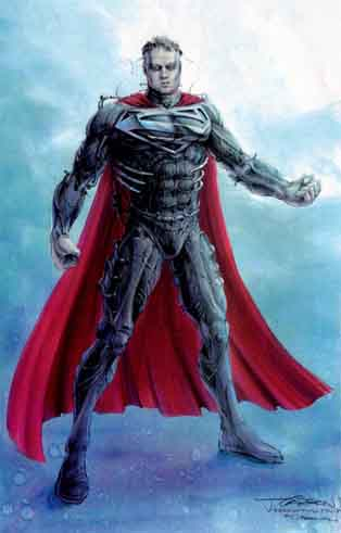 Superman appears with a reimagined costume enhanced by Kryptonian armor. The costume is black instead of blue and red because they felt the old colors were ...  sc 1 st  Film Sketchr & Supermanu0027s Spiky Concept Sketches « Film Sketchr