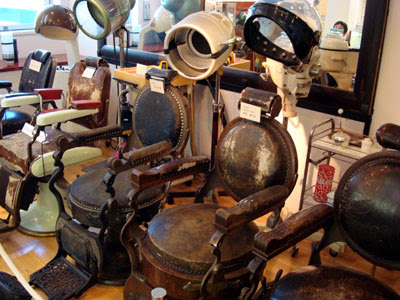 Barber's chairs, Feather Museum.