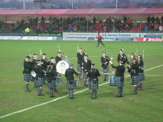 Falkirk v Aberdeen Bagpipes