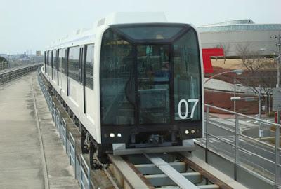 Linimo train outside the Toyota Automobile Museum