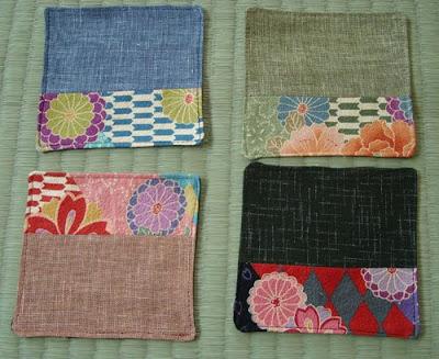 Kimono Fabric Coasters