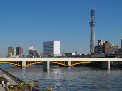 Tokyo Sky Tree and the Sumida River