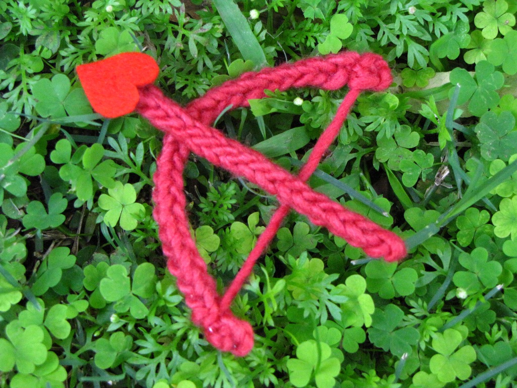 d5477bd21a2 Valentine Knitted Cupid Bow and Arrow... - Natural Suburbia