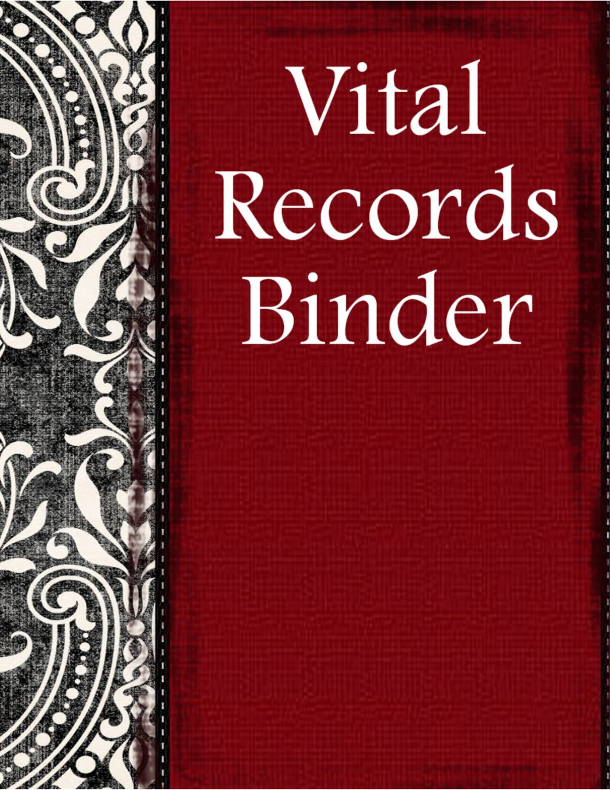 Prepared Not Scared Vital Records