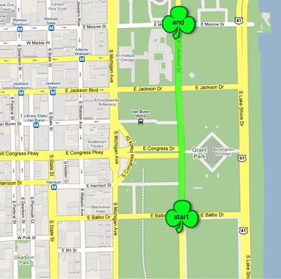 St. patrick day parade route